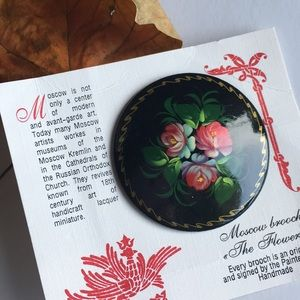 Vintage hand painted Moscow Brooch